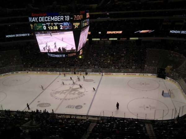 American Airlines Center, vak: 325, rij: d, stoel: 7