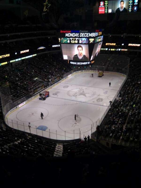American Airlines Center, vak: 316, rij: g, stoel: 6