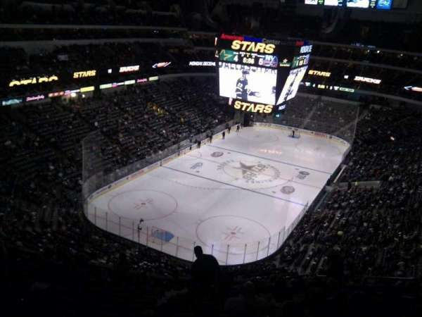 American Airlines Center, vak: 333, rij: h, stoel: 7