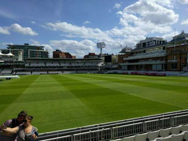 Lord's Cricket Ground, rij: 6, stoel: 38