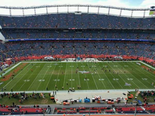 Empower Field at Mile High Stadium, vak: 535, rij: 4, stoel: 7