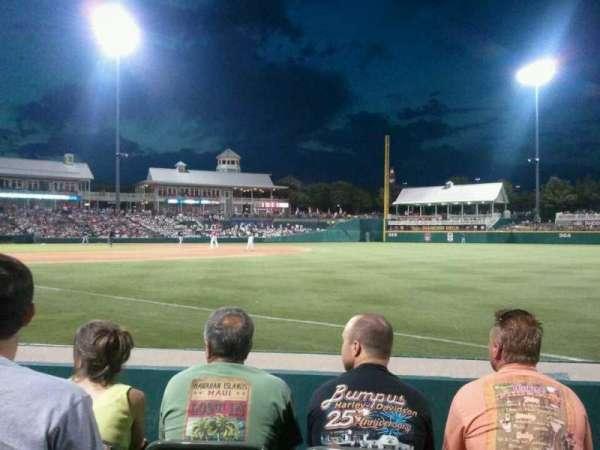 Dr Pepper Ballpark, vak: 124, rij: 4, stoel: 3