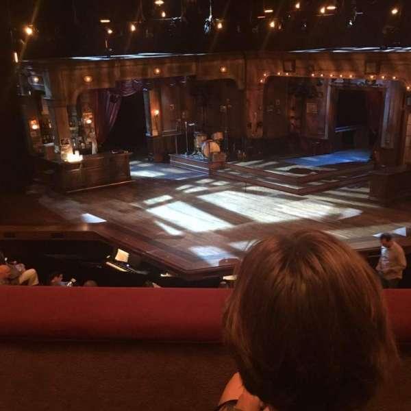 Bernard B. Jacobs Theatre, vak: Mezzanine, rij: B, stoel: 105