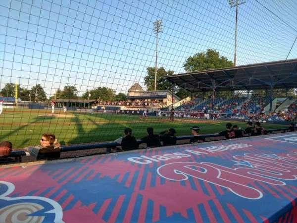 BB&T Ballpark at Historic Bowman Field, vak: O, rij: F, stoel: 8