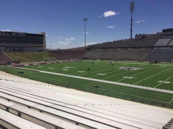 Aggie Memorial Stadium, vak: S, rij: 18, stoel: 3