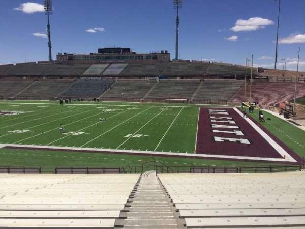 Aggie Memorial Stadium, vak: Q, rij: 18, stoel: 32