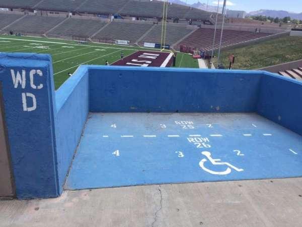 Aggie Memorial Stadium, vak: C, rij: 25/26, stoel: 1-4
