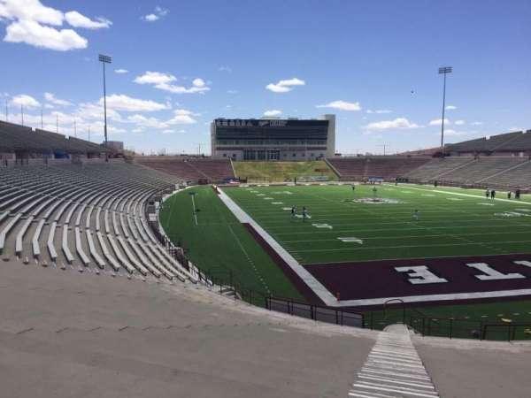 Aggie Memorial Stadium, vak: O, rij: 18
