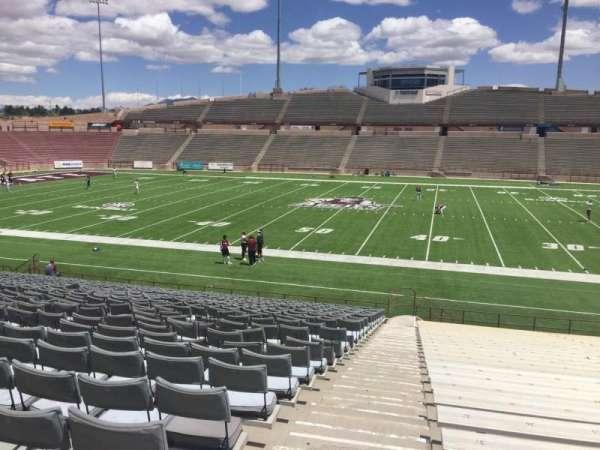 Aggie Memorial Stadium, vak: G, rij: 18, stoel: 3