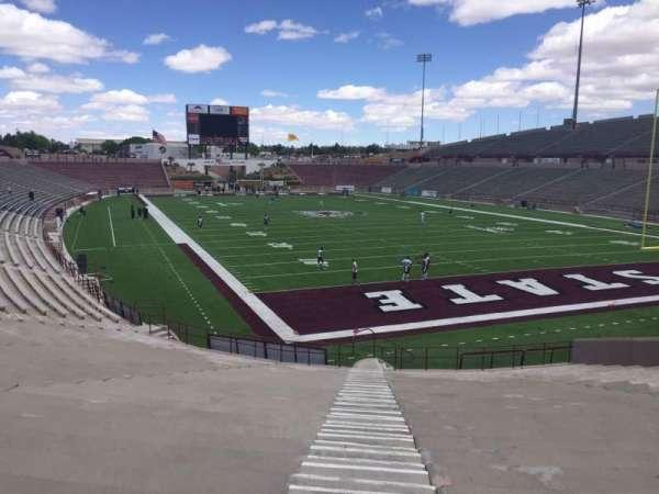 Aggie Memorial Stadium, vak: C, rij: 18