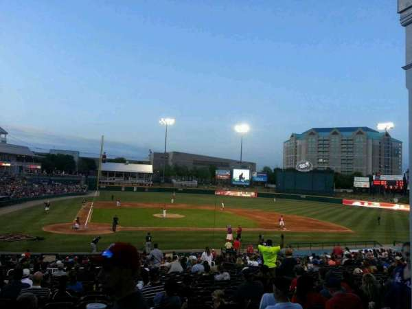 Dr Pepper Ballpark, vak: 120, rij: 9, stoel: 1