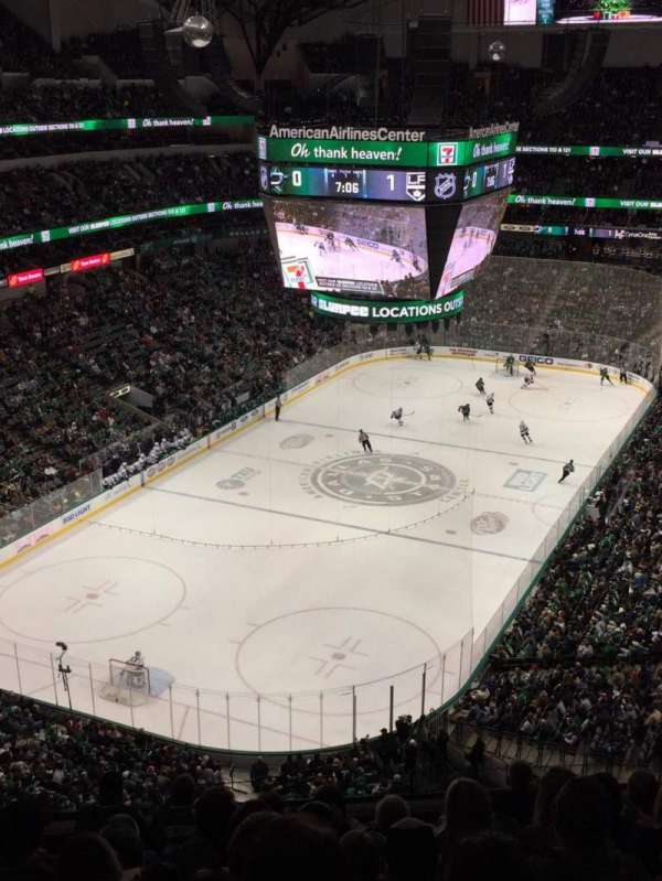 American Airlines Center, vak: 316, rij: J, stoel: 6