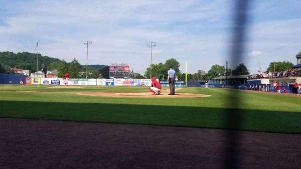 BB&T Ballpark at Historic Bowman Field, vak: J, rij: A, stoel: 5