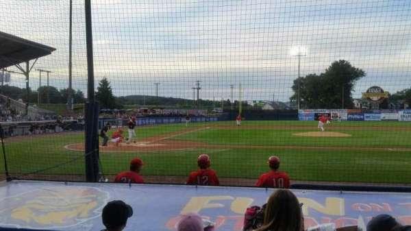 BB&T Ballpark at Historic Bowman Field, vak: d, rij: i, stoel: 3