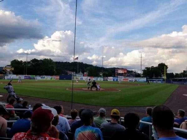 BB&T Ballpark at Historic Bowman Field, vak: i, rij: g, stoel: 3