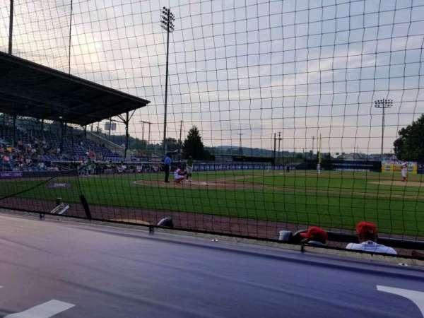 BB&T Ballpark at Historic Bowman Field, vak: d, rij: f, stoel: 1
