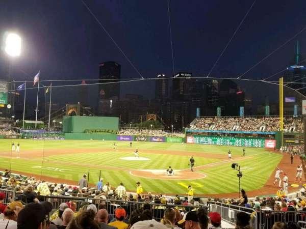 PNC Park, vak: 117, rij: k, stoel: 18
