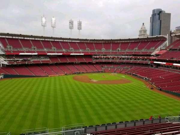 Great American Ball Park, vak: 401, rij: v, stoel: 1
