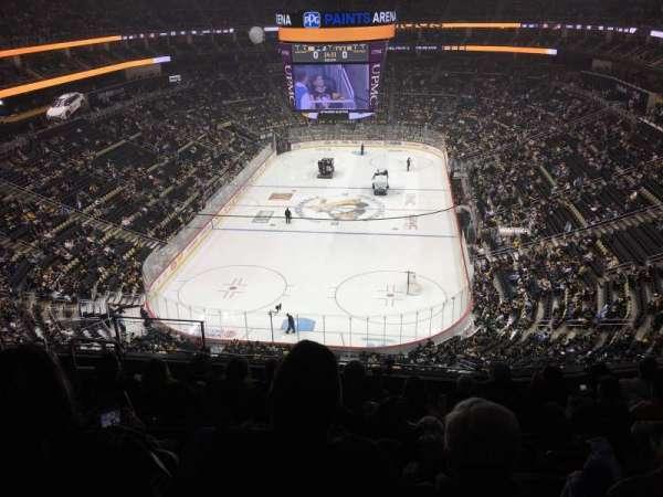 PPG Paints Arena, vak: 210, rij: H, stoel: 12