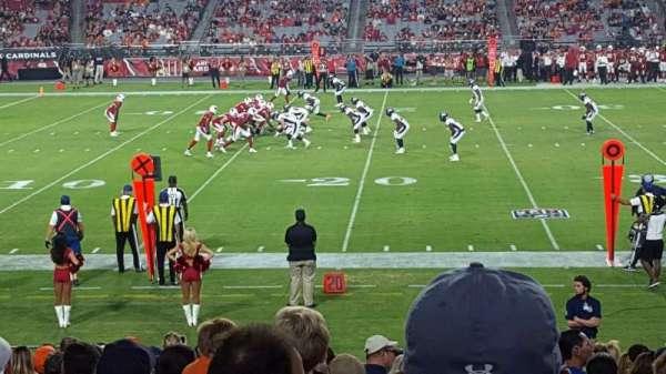 State Farm Stadium, vak: 132, rij: 19, stoel: 11