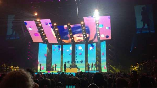 Madison Square Garden, vak: Floor F, rij: 8, stoel: 9