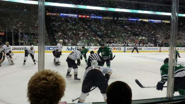 American Airlines Center, vak: 109, rij: C, stoel: 6