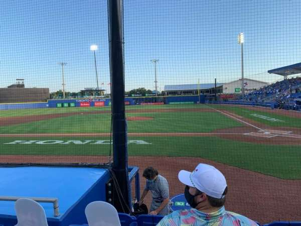 TD Ballpark, vak: 109, rij: 5, stoel: 9