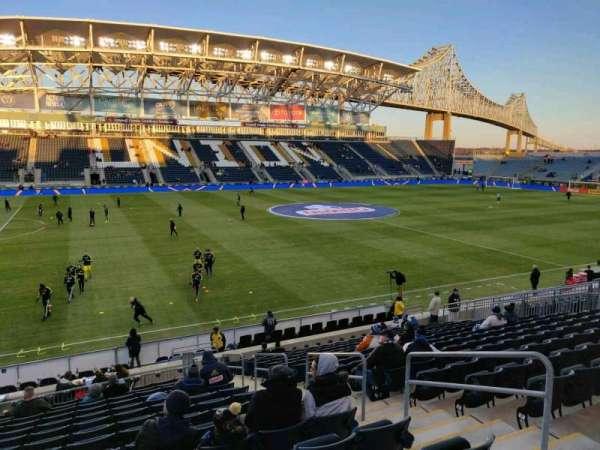 Talen Energy Stadium, vak: 110, rij: T, stoel: 5