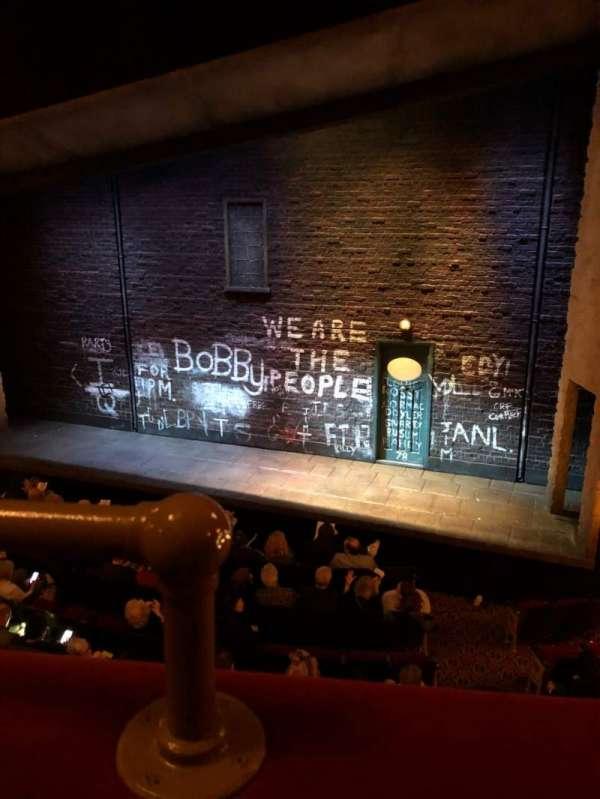 Bernard B. Jacobs Theatre, vak: Mezz, rij: A, stoel: 2