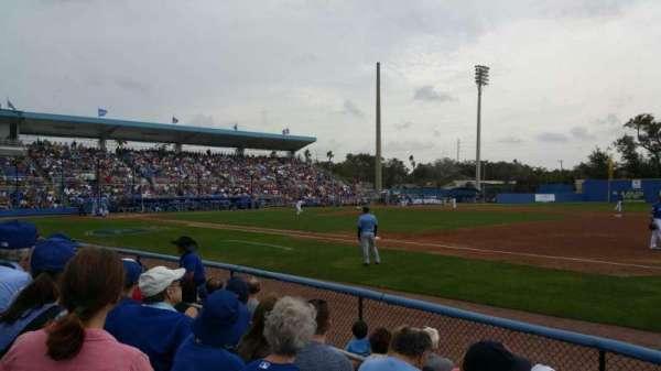 TD Ballpark, vak: 101, rij: 4, stoel: 5
