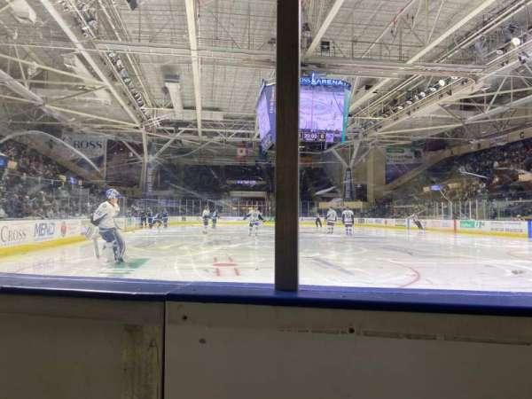 Cross Insurance Arena, vak: O, rij: 1, stoel: 7