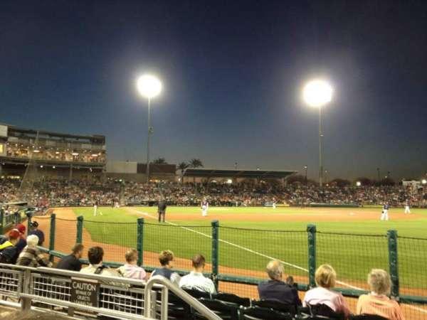 Goodyear Ballpark, vak: 122, rij: G, stoel: 4