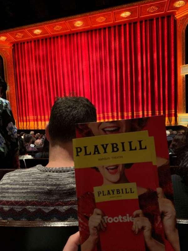 Marquis Theatre, vak: ORCH, rij: M, stoel: 120