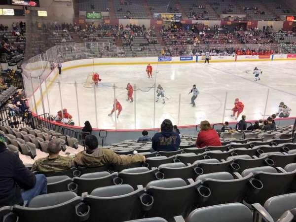 Sullivan Arena, vak: 106, rij: 16?, stoel: NWC 47