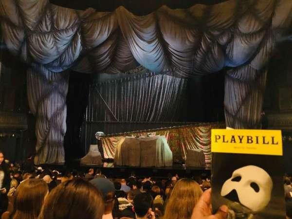 Majestic Theatre, vak: Orchestra, rij: M, stoel: 111