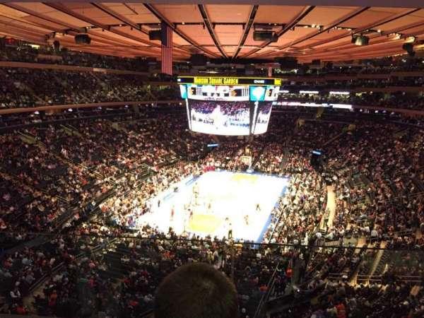 Madison Square Garden, vak: 417, rij: 2, stoel: 7