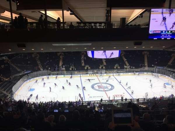 Madison Square Garden, vak: 210, rij: 20, stoel: 14