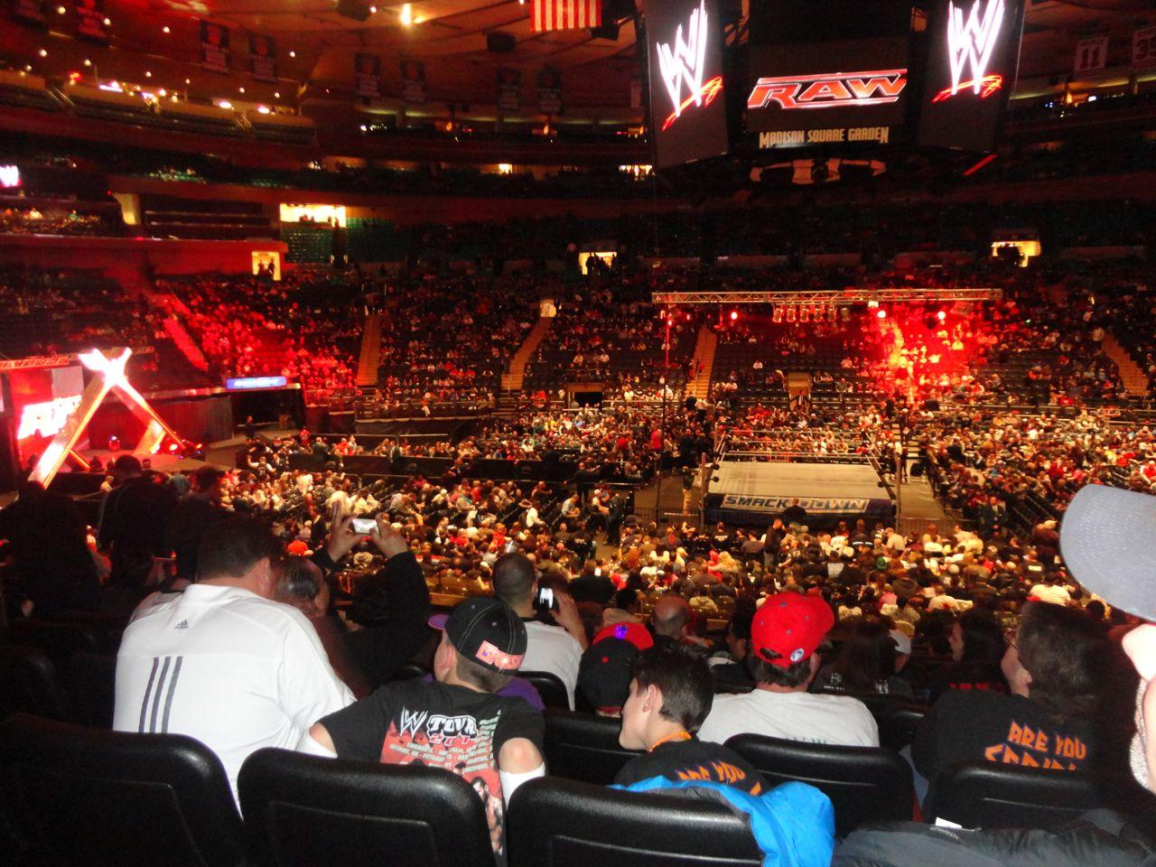 Madison Square Garden, section 117, row 17, seat 7 - Smackdown ...