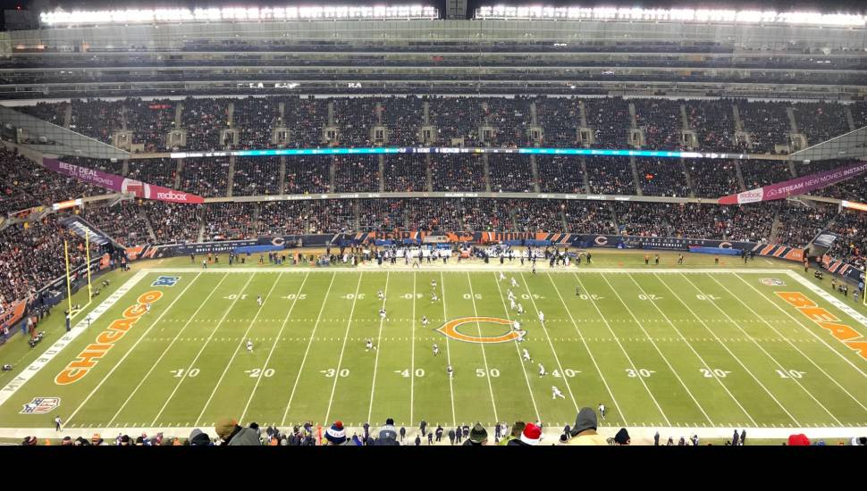 Soldier Field,  Vak <strong>A</strong>, Rij <strong>33</strong>, Stoel <strong>43</strong>