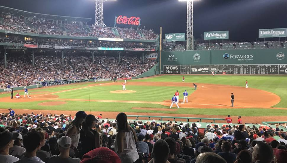 Fenway Park,  Vak <strong>104</strong>, Rij <strong>F</strong>, Stoel <strong>19</strong>