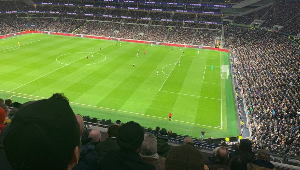 Tottenham Hotspur Stadium,  Vak <strong>Pearson M</strong>, Rij <strong>40</strong>, Stoel <strong>22</strong>