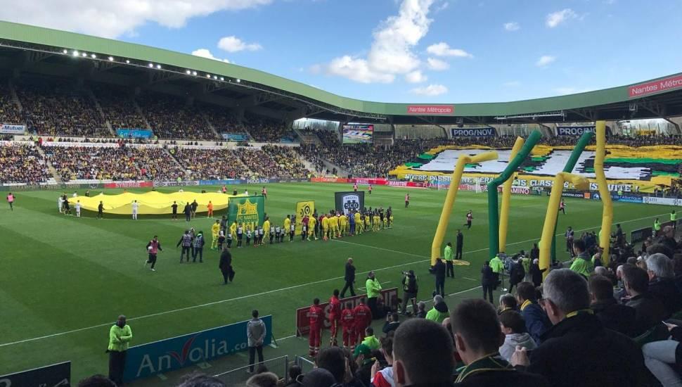 Stade de la Beaujoire,  Vak <strong>Tribune Schuth</strong>, Rij <strong>Parcage</strong>, Stoel <strong>Visiteur</strong>
