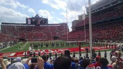 Ohio Stadium, vak: 8AA, rij: 10, stoel: 6