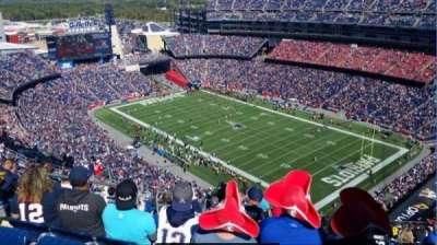 Gillette Stadium, vak: 324, rij: 26, stoel: 20