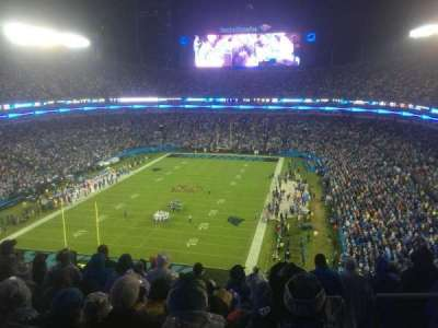 Bank of America Stadium, vak: 553, rij: 12, stoel: 2