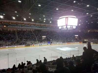 Ricoh Coliseum, vak: 112, rij: h, stoel: 7