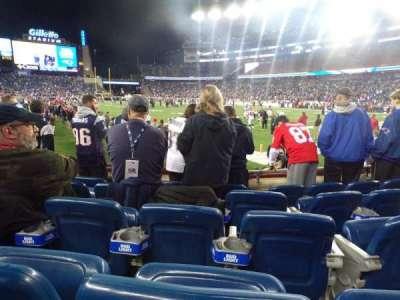Gillette Stadium, vak: 124, rij: 5, stoel: 8