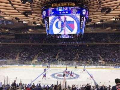 Madison Square Garden, vak: 107, rij: 18, stoel: 10