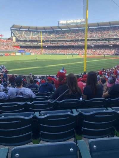 Angel Stadium, vak: F102, rij: X, stoel: 15