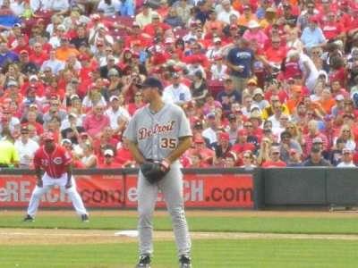 Great American Ball Park, vak: 114, rij: H, stoel: 9